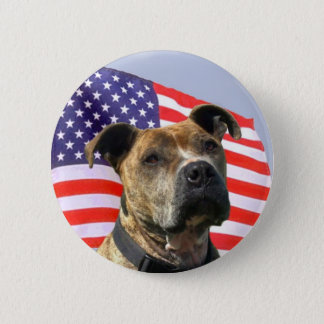 Badge Rond 5 Cm Bouton patriotique de pitbull