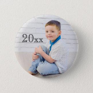 Badge Rond 5 Cm Bouton personnalisé d'année de photo
