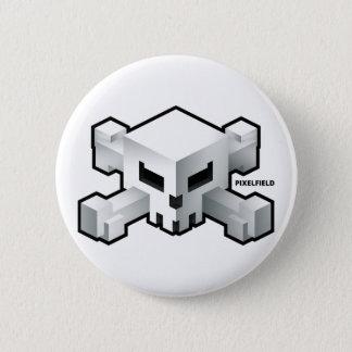 Badge Rond 5 Cm Bouton radical de logo de crâne du jeu | de