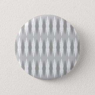 Badge Rond 5 Cm Bouton rond à motifs de losanges gris moderne de