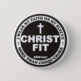 Badge Rond 5 Cm bouton rond convenable noir de goupille du Christ