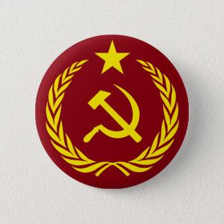 Badge Rond 5 Cm Bouton rond de drapeau communiste de guerre froide