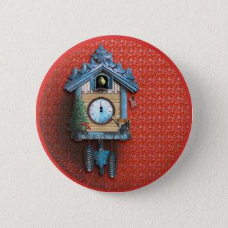 Badge Rond 5 Cm Bouton rond de pouce de ¼ de l'horloge de coucou