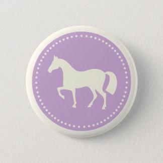 Badge Rond 5 Cm Bouton rond de silhouette de cheval/poney