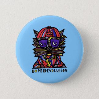 """Badge Rond 5 Cm Bouton rond """"d'évolution de dopant"""""""