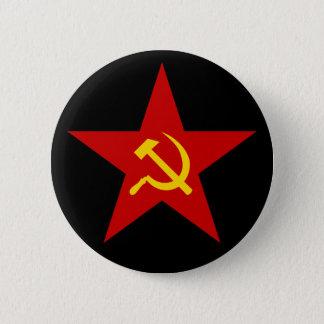 Badge Rond 5 Cm Bouton rouge communiste d'étoile (marteau et