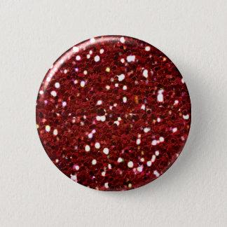 Badge Rond 5 Cm Bouton rouge de parties scintillantes