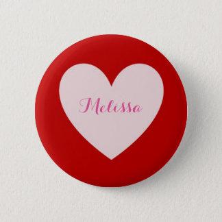 Badge Rond 5 Cm Bouton simple de coeur