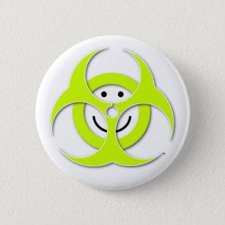 Badge Rond 5 Cm Bouton souriant de Biohazard de visage