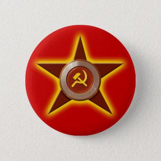 Badge Rond 5 Cm Bouton soviétique d'étoile