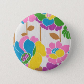 Badge Rond 5 Cm Bouton super de flower power
