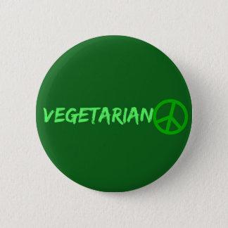 Badge Rond 5 Cm Bouton végétarien