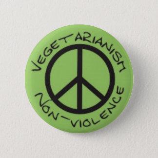 Badge Rond 5 Cm Bouton végétarien de Non-Violence
