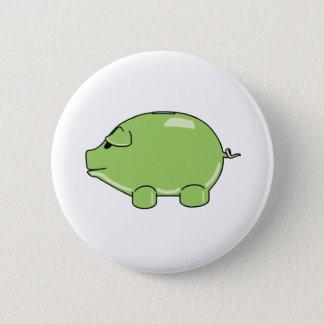 Badge Rond 5 Cm Bouton vert de porc