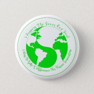 Badge Rond 5 Cm Bouton vert de soutien de nouveau contrat