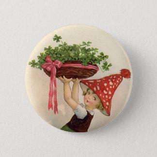 Badge Rond 5 Cm Bouton vintage du jour de St Patrick