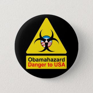 Badge Rond 5 Cm Boutons de risque d'Obama