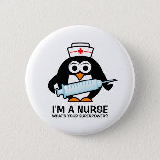 Badge Rond 5 Cm Boutons drôles de soins avec l'infirmière mignonne