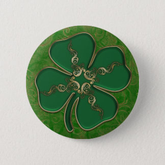 Badge Rond 5 Cm Boutons irlandais chanceux de Pin de shamrock