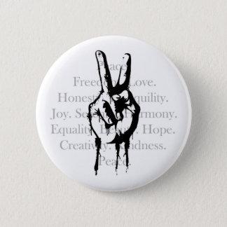 Badge Rond 5 Cm Boutons pour la paix