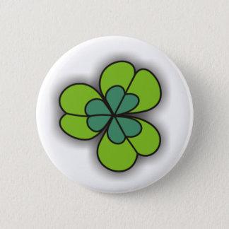 Badge Rond 5 Cm Boutons verts de Pinback de shamrock de bande