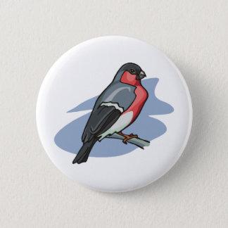 Badge Rond 5 Cm Bouvreuil d'oiseau