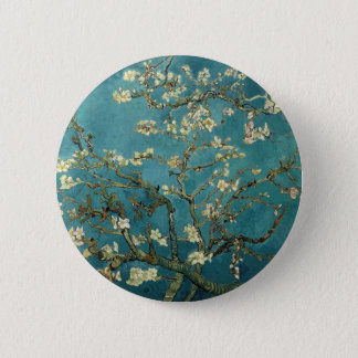 Badge Rond 5 Cm Branches d'amande de Van Gogh en fleur