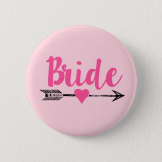 Badge Rond 5 Cm Bride|Team Bride|Pink