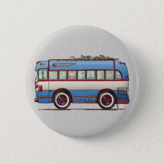 Badge Rond 5 Cm Bus touristique mignon d'autobus