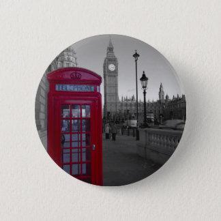 Badge Rond 5 Cm Cabine téléphonique rouge de Londres