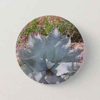Badge Rond 5 Cm Cactus bleu