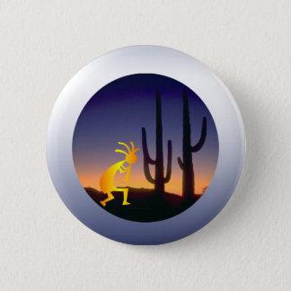 Badge Rond 5 Cm Cactus et Kokopelli ronds