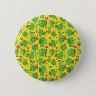 Badge Rond 5 Cm Cactus j'extérieur (jaune) - bouton