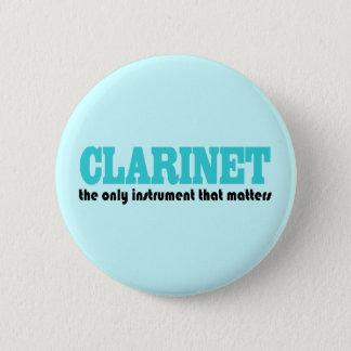 Badge Rond 5 Cm Cadeau de musique de slogan de clarinette