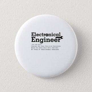 Badge Rond 5 Cm Cadeau d'ingénieur électrique pour l'ingénieur