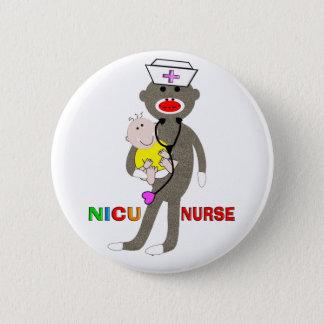 Badge Rond 5 Cm Cadeaux de singe de chaussette d'infirmière de