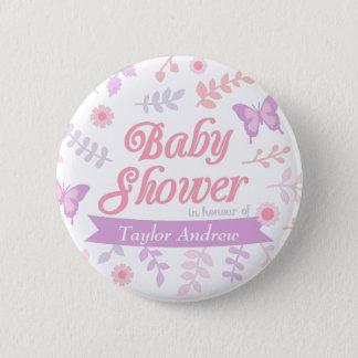 Badge Rond 5 Cm Cadeaux floraux élégants de baby shower de
