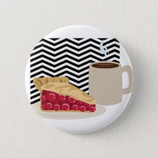 Badge Rond 5 Cm Café et tarte aux cerises