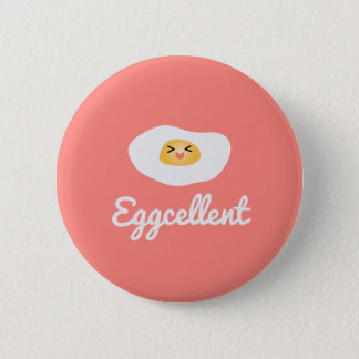 Badge Rond 5 Cm Calembour humoristique de nourriture d'Eggcellent