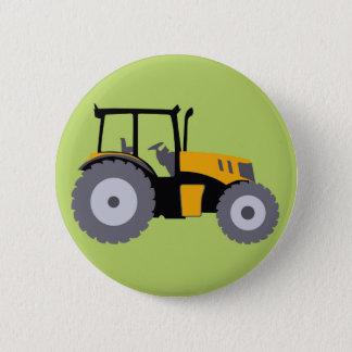 Badge Rond 5 Cm Camion à benne basculante jaune d'illustration de
