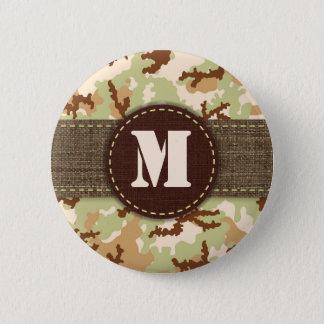 Badge Rond 5 Cm Camouflage de désert