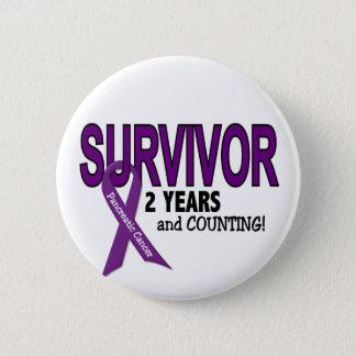 Badge Rond 5 Cm Cancer pancréatique SURVIVANT de 2 ANS