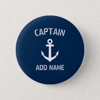 Badge Rond 5 Cm Capitaine nautique fait sur commande de bateau