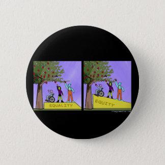 Badge Rond 5 Cm Capitaux propres contre l'égalité