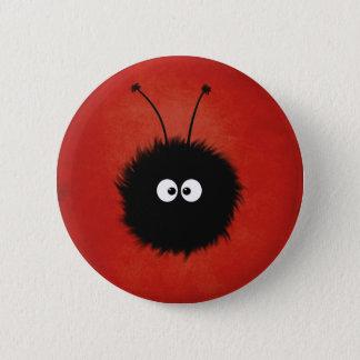 Badge Rond 5 Cm Caractère brillé pelucheux mignon rouge d'insecte