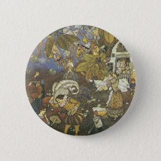 Badge Rond 5 Cm Caractères classiques vintages de livre de contes,