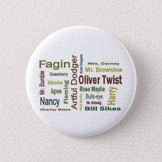 Badge Rond 5 Cm Caractères d'Oliver Twist