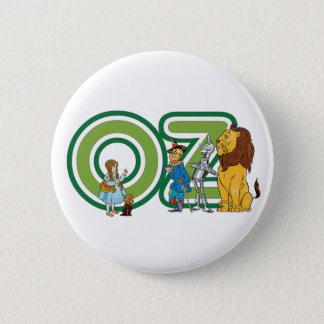 Badge Rond 5 Cm Caractères vintages de magicien d'Oz et lettres