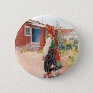 Badge Rond 5 Cm Carl Larsson - la maison de Falun