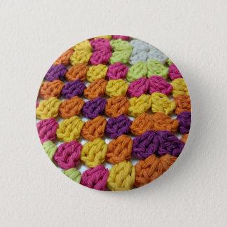Badge Rond 5 Cm Carré de mamie de crochet